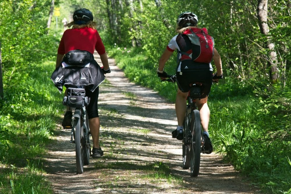 Picture of two people Cycling for fun and health