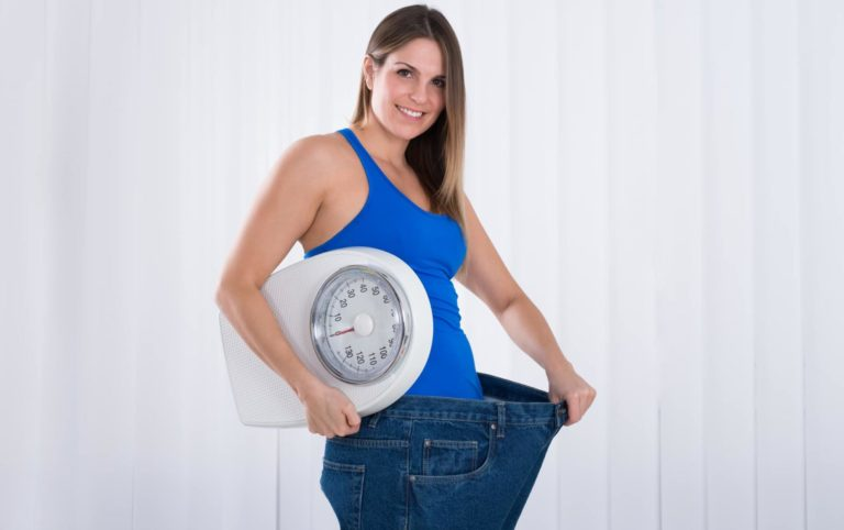 A picture of a woman who lost a lot of weight